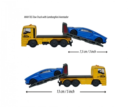 majorette MAN TGS Tow Truck with Ford GT
