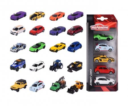 majorette Street Cars 5 Pieces Set, 4-fach sortiert
