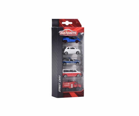 majorette Set 5 Coches escala 1:64