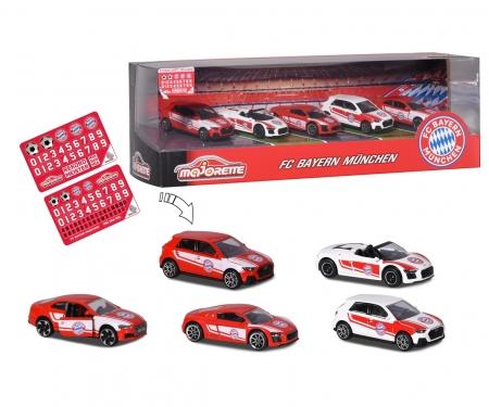 majorette FC Bayern Munich 5 pieces Giftpack incl. sticker sheet