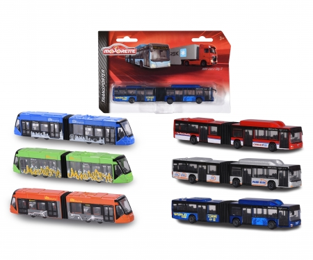 majorette MAN Lion's City Bus + Siemens Avio Tram, 6-fach sortiert