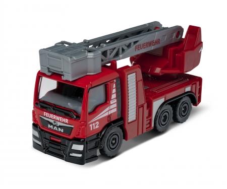 majorette Feuerwehrauto Drehleiter MAN TGS