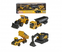 majorette Volvo Construction 4 Pieces Giftpack