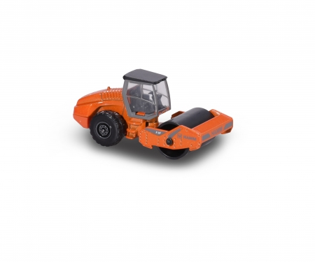 majorette 3er Set Baufahrzeuge - Liebherr Bagger R936, Hamm Planierwalze, Mercedes-Benz Zetros Kipper