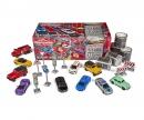 majorette Playtape Geschenkset 10 Autos + 20 Meter Straßenklebeband + Verkehrsschilder