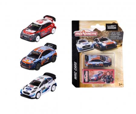 majorette WRC Cars w. collectors box, 4-asst.