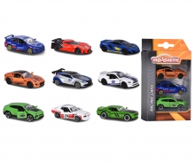Set 3 coches Racing