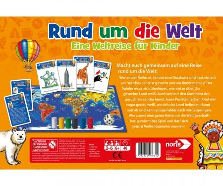 noris_spiele Rund um die Welt - Eine Weltreise für Kinder