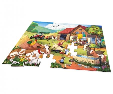 noris_spiele Big-sized jigsaw puzzle On a farm