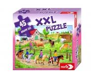noris_spiele big-sized jigsaw puzzle pony farm
