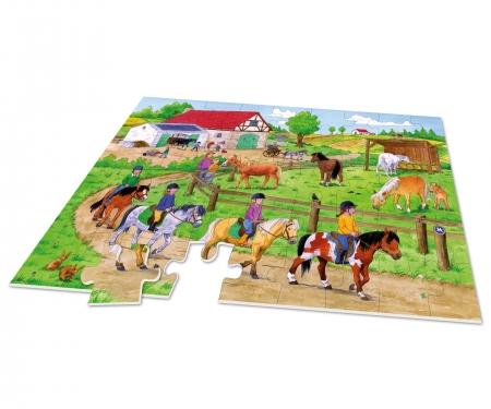 noris_spiele XXL Puzzle Ferien auf dem Ponyhof