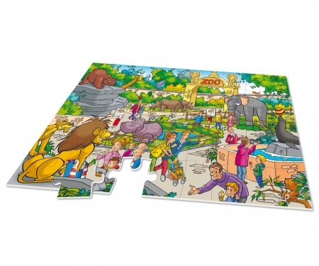 noris_spiele XXL Puzzle Zoo 2 in 1 incl. Game