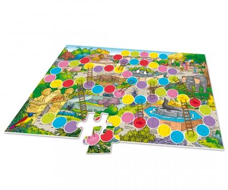 noris_spiele XXL Puzzle Zoo 2 in 1 mit Spiel