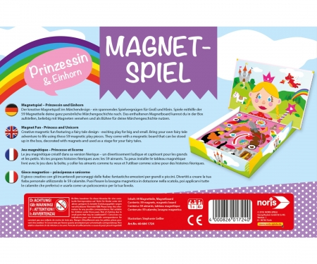 Magnetic game - Princess and Unicorn