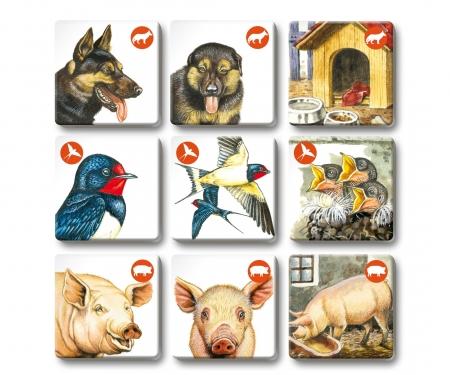 noris_spiele Memo Trio farm animals