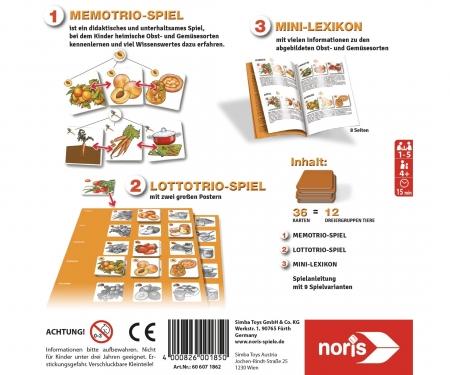 noris_spiele Memo Trio fruit and vegetables