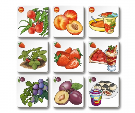 noris_spiele Memo Trio fruit and vegetables