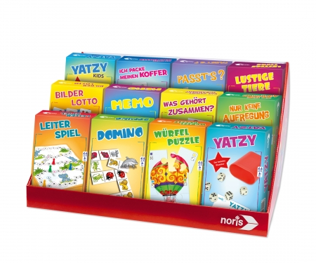 noris_spiele Display travelgames 24 pcs.