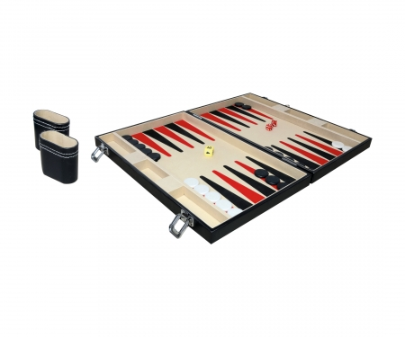 noris_spiele Deluxe Backgammon case 15""