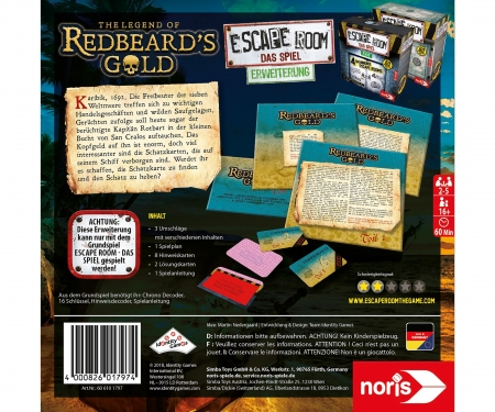 noris_spiele Escape Room Redbeards Gold