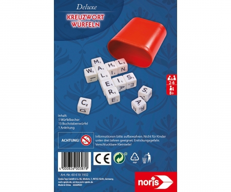 noris_spiele Deluxe crossword dice