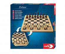 noris_spiele Deluxe Holz - Schach & Dame