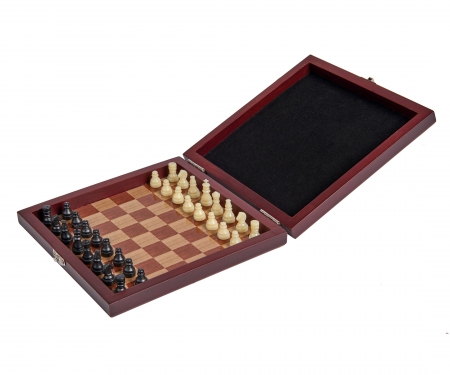 noris_spiele Deluxe Magnetic Chess in Wooden Box