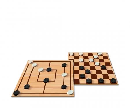 noris_spiele Deluxe - Morris & Checkers