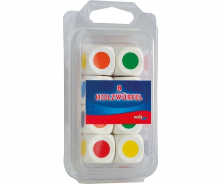 Colour dices wooden 20mm