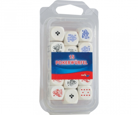 noris_spiele Poker dices wooden 16mm