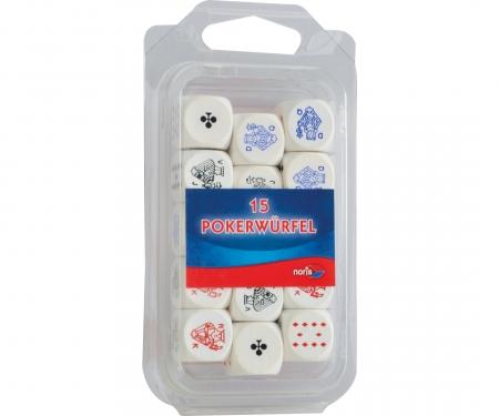 noris_spiele Pokerwürfel Holz 16mm