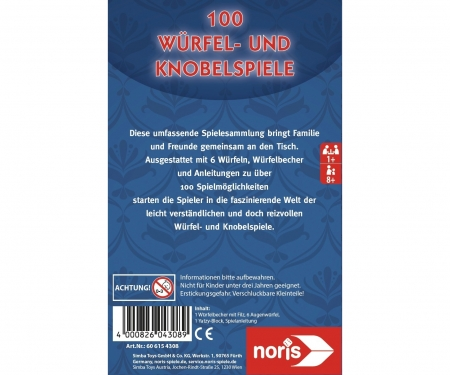 noris_spiele 100 Dice- and Tossgames