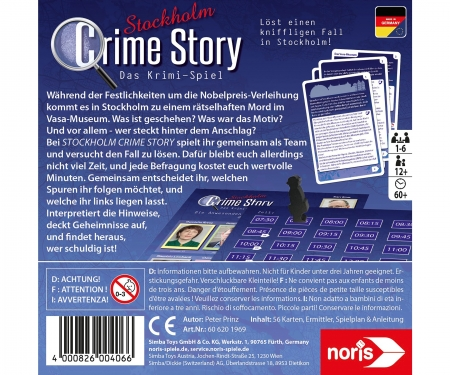 noris_spiele Crime Story - Stockholm