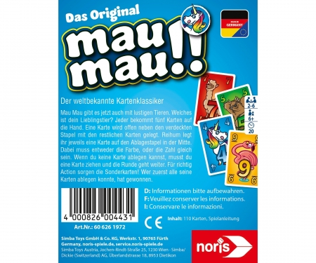 noris_spiele Mau Mau Animals