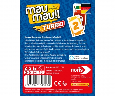 noris_spiele MauMau Turbo (with Amazon Alexa)