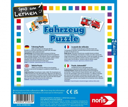 noris_spiele Vehicle Puzzle