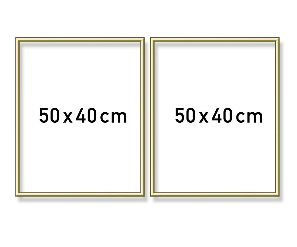 Cadre en aluminium diptyque 50 x 80 cm accessoires - Cadre 80 x 120 ...