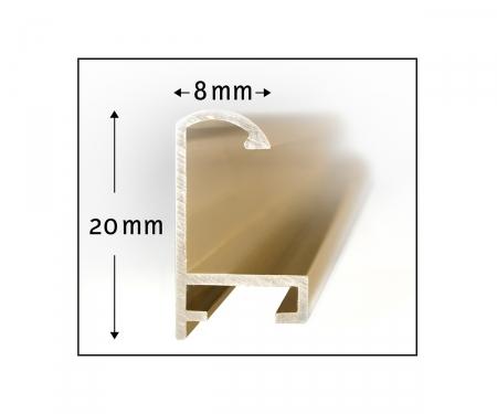2 Aluminium frames 24 x 30 cm