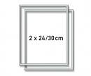 schipper 2 Aluminium frames 24 x 30 cm – mat silver