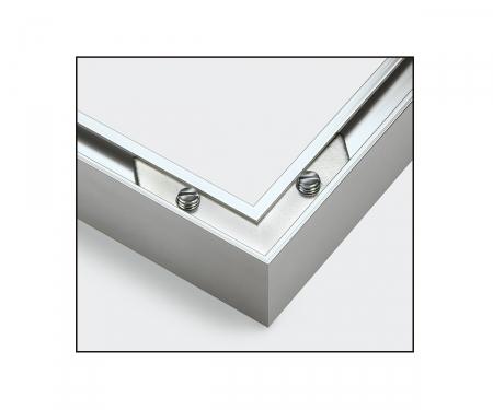 2 Aluminium frames 24 x 30 cm – mat silver