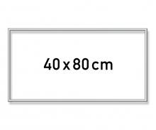 Aluminium frame 40 x 80 cm – mat silver