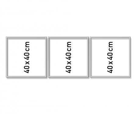 schipper Aluminium frame Triptych 120 x 40 cm – mat silver