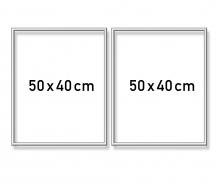 Alurahmen Diptychon 50 x 80 cm – Silber matt
