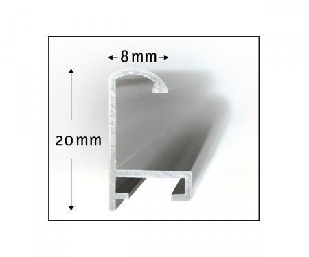 schipper Aluminium frame Diptych 50 x 80 cm – mat silver