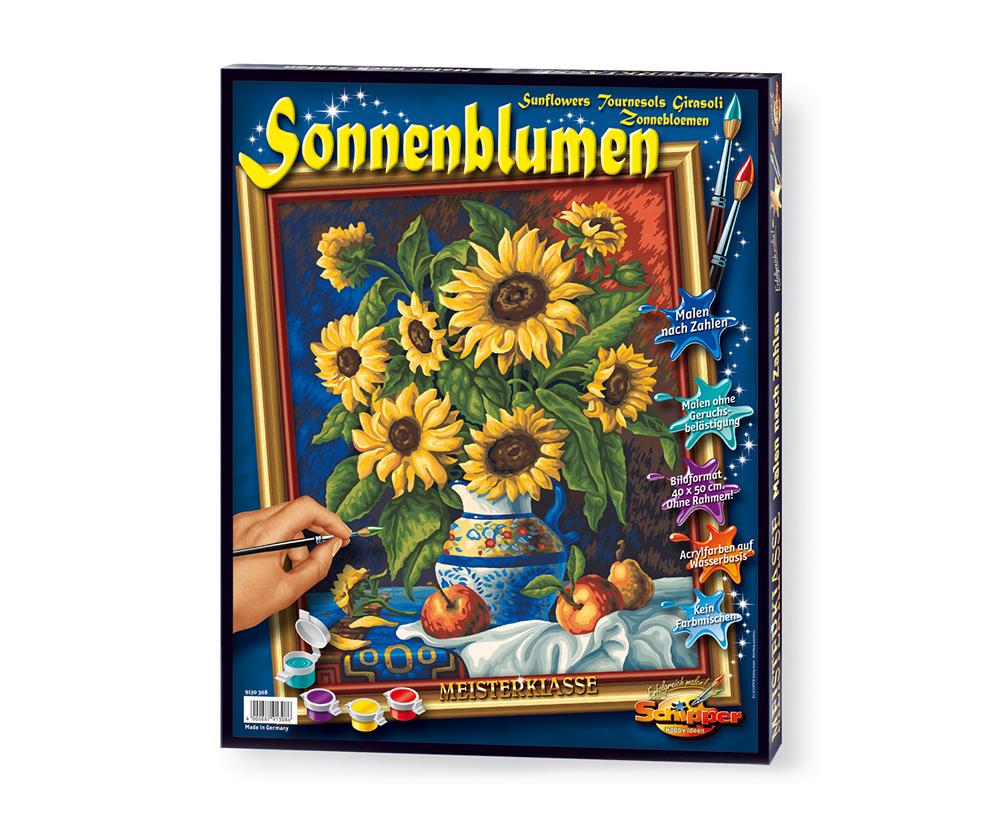 Stillleben mit Sonnenblumen - Premium 10 x 10 cm - Bildformate