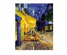 schipper Caféterrasse am Abend – Nachtcafé nach Vincent van Gogh Malen nach Zahlen Vorlage