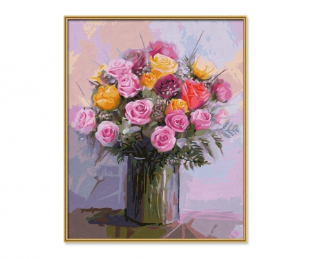 schipper Bunch of Roses in Pastel Colors
