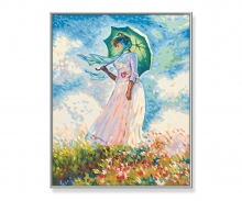 """Lady with a parasol"" based on Claude Monet (1840-1926)"