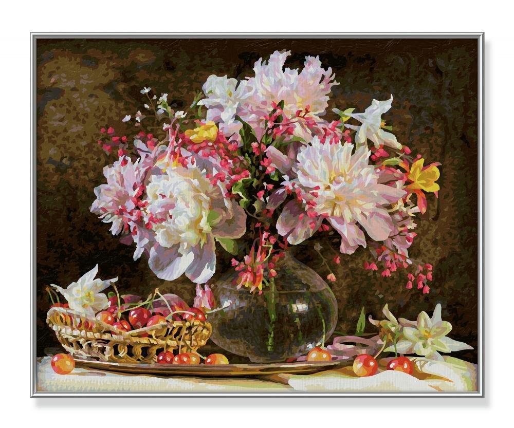 Blumenstrau mit kirschen blumen und pflanzen for Blumen und pflanzen bestellen