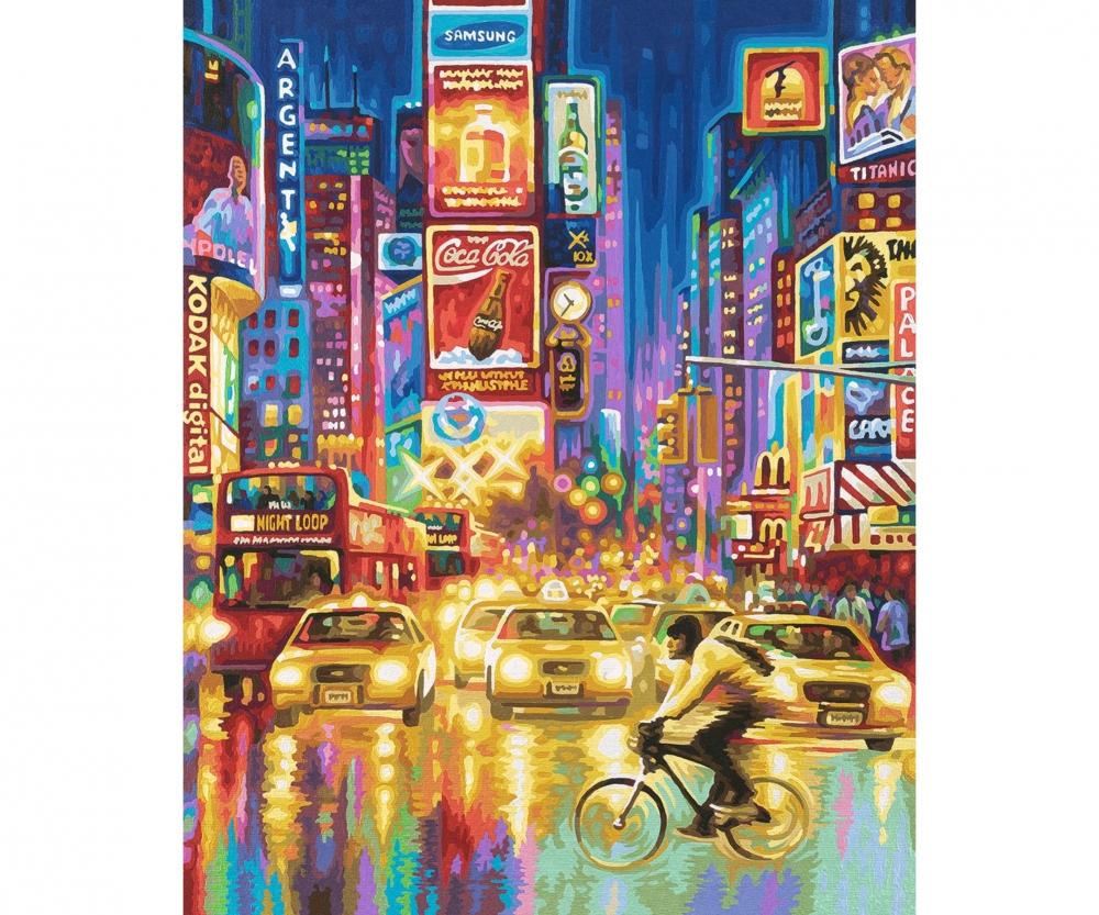 Weihnachtsbilder New York.New York City Times Square Bei Nacht Neuheiten Malthemen Www